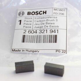Комплект угольных щеток BOSCH код 2604321941. Цена 275 рублей